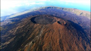 Cratères-sommet-Piton-Fournaise volcan